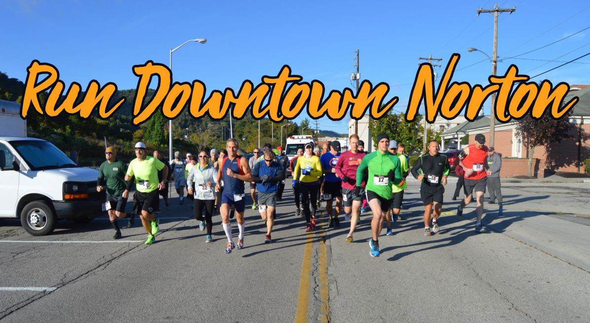 Photo of runners in downtown Norton