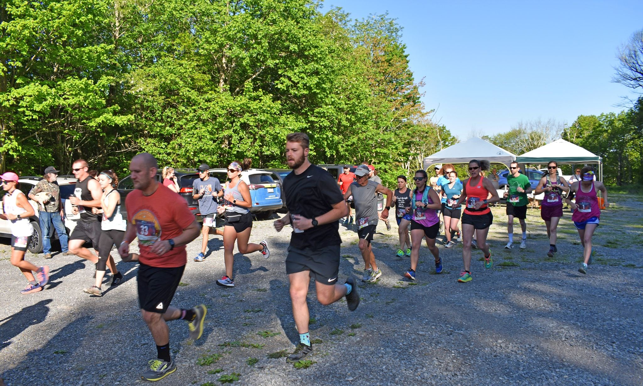 Photo of runners participating in the Fit Farmer 12K Trail Run