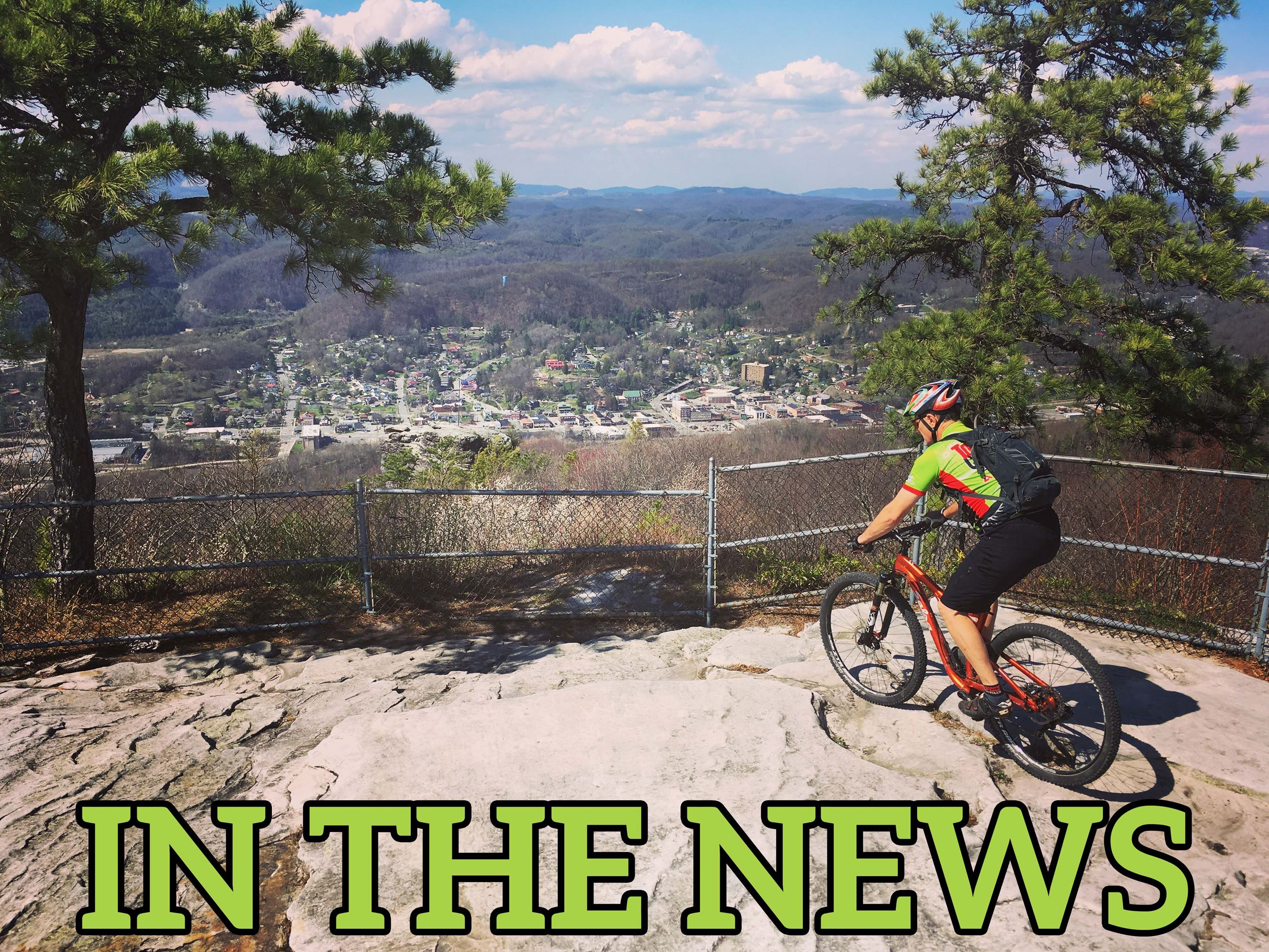 Photo of mountain biker at Flag Rock Overlook