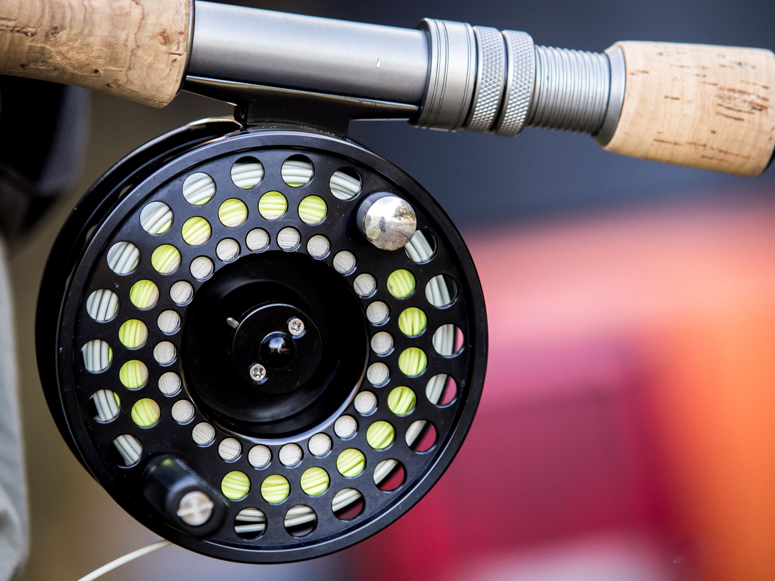 Closeup photo of a fishing rod