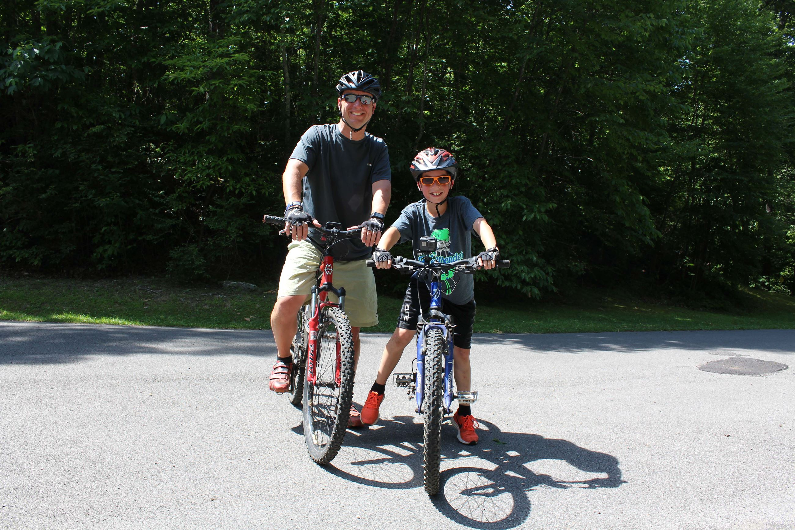 Photo of two mountain bikers