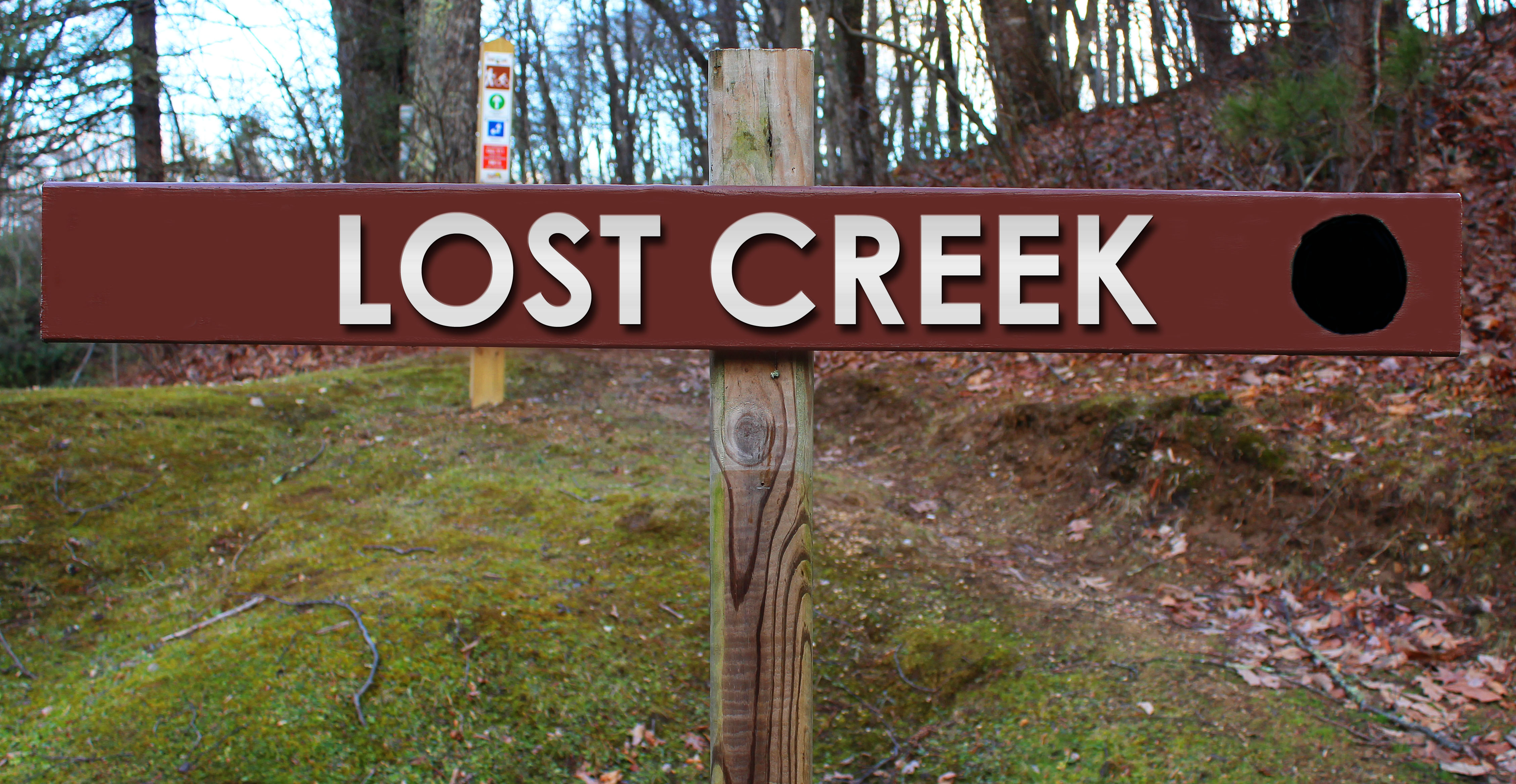 Picture of Lost Creek trail sign
