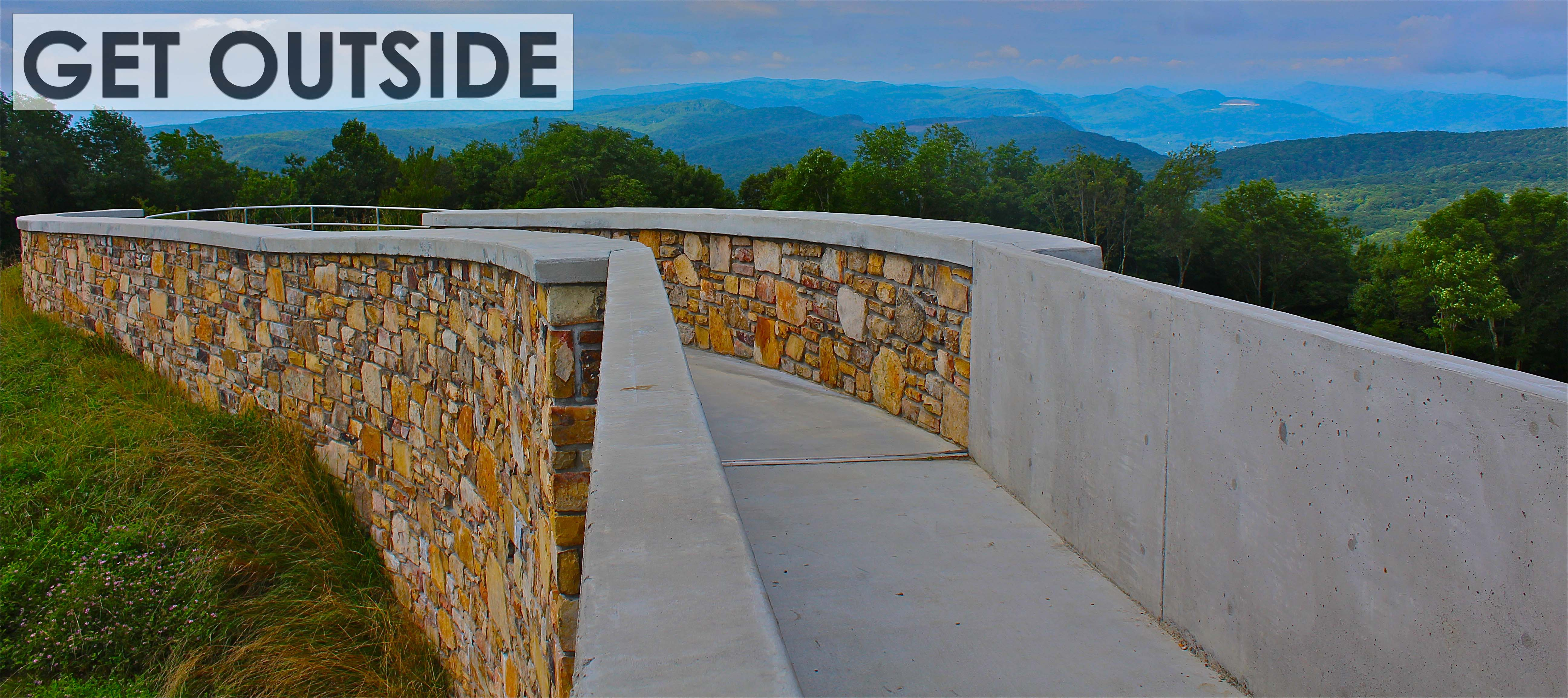 Picture of High Knob observation tower walkway